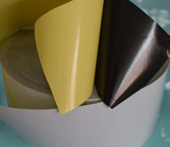 黑胶铜版纸不干胶材料